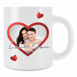 Personalised Love You Mug Gift For Loved One Add Photo and Text