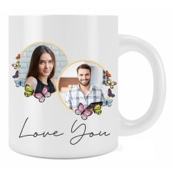 Personalised Love You 3 Mug Gift For Loved One Add Photo and Text