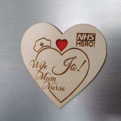 APPRECIATE OUR HEALTH HEROES WITH WOODEN ENGRAVED FRIDGE MAGNET