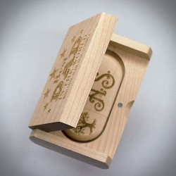 PERSONALISED LASER ENGRAVED WOOD USB DRIVE WITH BOX